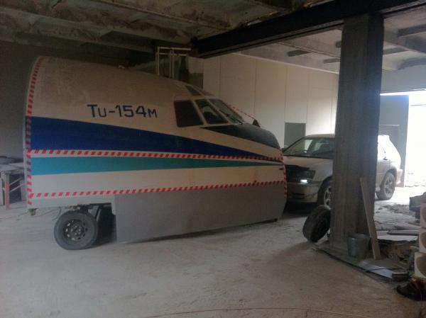 Подготовка кабины к перевозке в помещение для эксплуатации авиатренажера