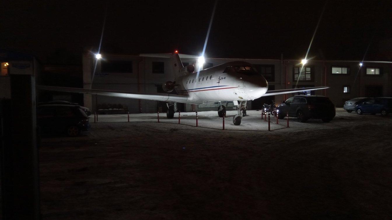 Первое включение подсветки самолета