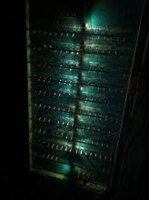 Первые зажжённые лампочки в кабине
