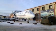 Первое утро 19 декабря 2018 г. Як-40 около Центра виртуальной авиации RUNWAY 29.